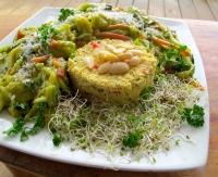 Rawsmati ryce, Banana curry Indian salad.jpg