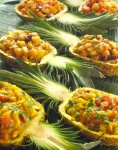 Tropical fruit salsa w/ curry option