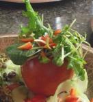 Tomato terrine microgreen salad