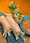 Coconut spring rolls, tamarind sauce