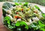 Cucumber noodle pad thai