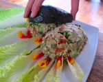 Ethiopian couscous molding avo