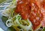 Squaghetti, marinara sauce