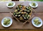 Sushi nori with palmito rice