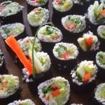 Sushi nori, palmito ryce