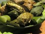 Tamale, banana leaf wrap