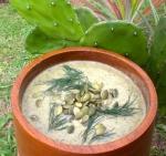 Cactus pepita soup witih chia seeds