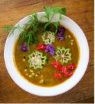 Carrot okra ginger soup