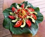 Mandala salad, tamale pate