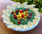 Masterpiece green spoothie with wild berries