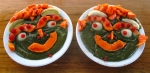 Masterpiece green spoothie with smiley papaya, rambutans