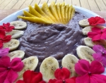 Masterpiece fruit spoothie with wild blueberry, banana, mango and coconut