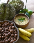 Durian heaven pudding